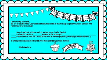 Birthday Reminder Cards for Parents!