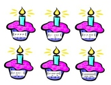 Birthday Rhythm Cupcakes