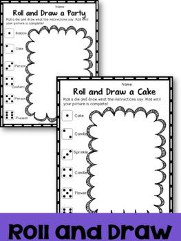 Birthday Roll : Dice Math Activities {Freebie}