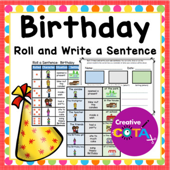 Birthday Roll and write a sentence