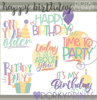Birthday Sayings and Titles Clipart
