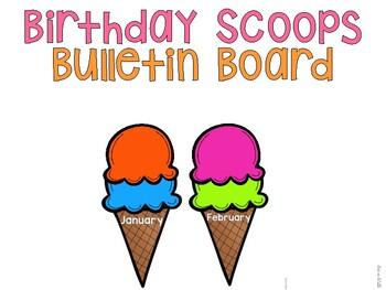 Birthday Scoops Bulletin Board
