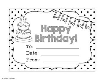 Birthday Set - Blackline Polka Dot