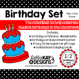 Birthday Set - Blue & Red