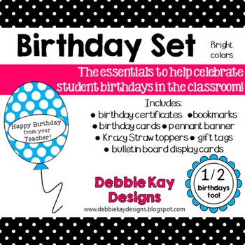 Birthday Set - Brights