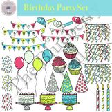 Birthday Party Clip Art Set