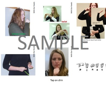 Birthday Sign Language (ASL) Vocabulary Cards