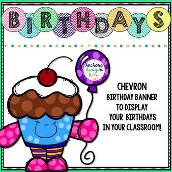 Birthday Sign (chevron)