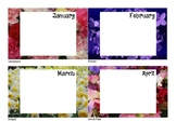 Birthday Signs - Flower Background