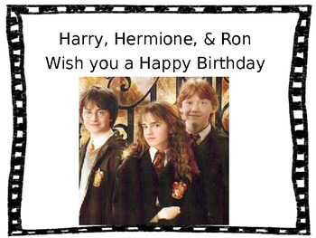 Birthday Signs- Harry Potter Themed