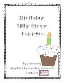 Birthday Silly Straw Toppers
