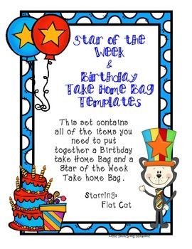 Birthday & Star of the Week - Take Home Bags