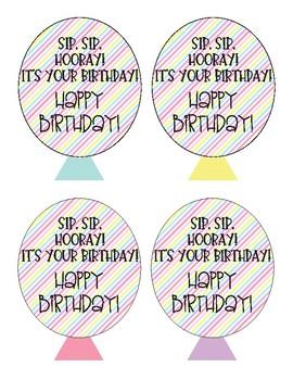 Birthday Straw Balloons