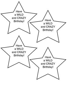 Birthday Straw Tags
