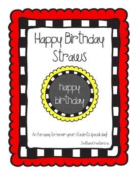 Birthday Straws