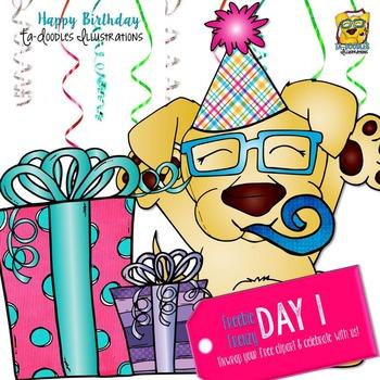 Birthday Surprise Clipart Freebie!