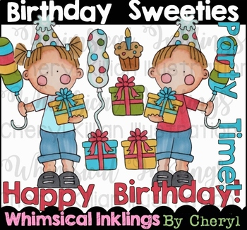 Birthday Sweeties Clipart Collection