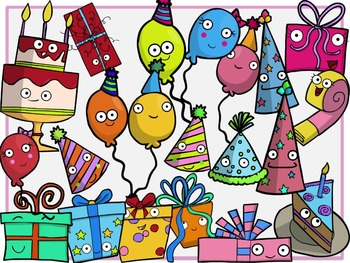 Party Time (Digital Clip Art) HUGE SET!