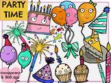 Party Time (Digital Clip Art) HUGE SET!
