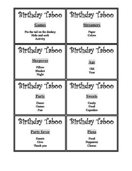 Birthday Taboo-Free Version