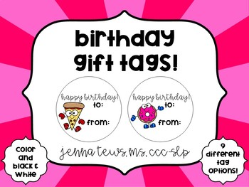 Birthday Tags!