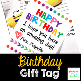 Birthday Tags- EDITABLE