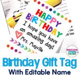 Birthday Tags- EDITABLE