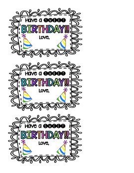 Birthday Tags FREEBIE