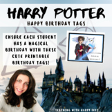 Birthday Tags - Harry Potter Themed