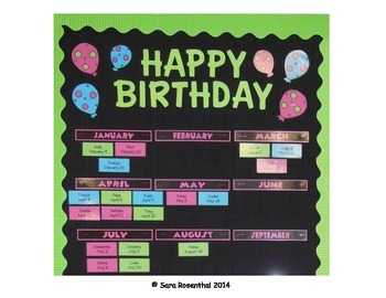 Birthday Tags - Neon