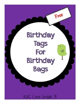 Birthday Tags for Birthday Bags {FREEBIE}
