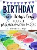 Birthday Take Home Bag Toolkit Plus Homework Passes