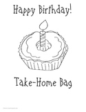 Birthday Take Home Bag or Binder:  Activities for Student Birthdays