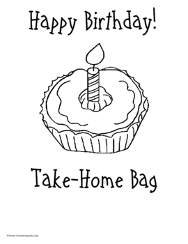 Birthday Take Home Bag or Binder:  Activities for Student Birthdays