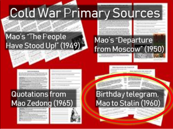 Birthday Telegram from Mao Zedong to Stalin: Cold War Primary Source w Questions