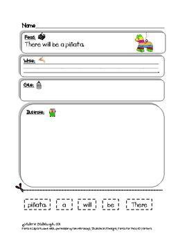 Birthday Theme Bell Work - Read, Write, Draw Packet