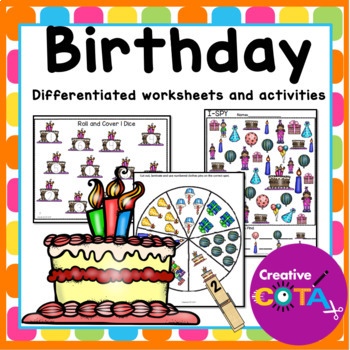 Birthday Theme: Differentiated Worksheets and Activities