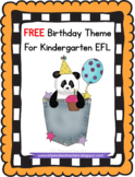 Birthday Theme resources  for ELL