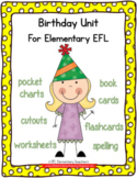 Birthday Theme Resources for Elementary ELL