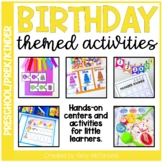 Birthday Themed Centers and Activities for PreK