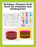 Birthday-Themed Math Mats for Preschool and Kindergarten