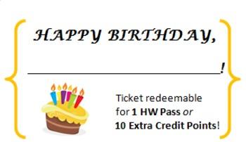 Birthday Tickets