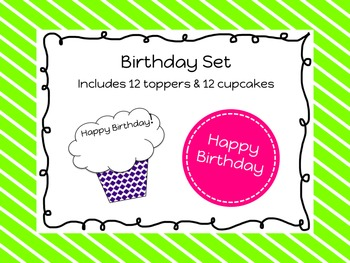 Birthday Toppers and Cupcakes