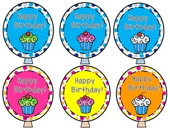 Birthday Toppers for Pencils or Crazy Straws