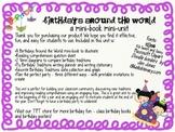 Birthday Traditions Mini-book Mini-unit