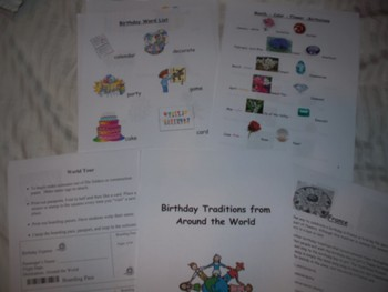 Birthday Traditions of the World-Common Core Aligned-Many