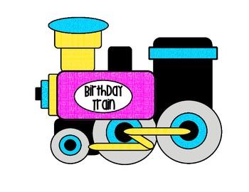 Birthday Train - Bright Colors