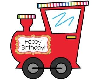 Birthday Train Decoration Bundle (Printable Bulletin Board Poster)