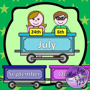 Birthday Train Display- Chevron Rainbow Theme