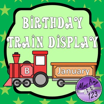 Birthday Train Display- Chevron Rainbow Theme